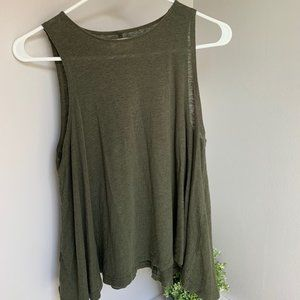Olive Green Lou & Gray Top